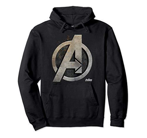 Marvel Avengers Infinity War Sl Symbol Felpa con Cappuccio
