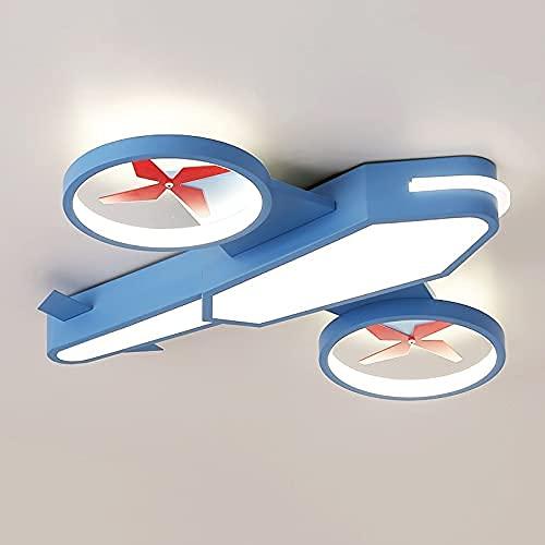 Avión de hélice luz de techo para niño niña LED ilimitado atenuación gratuita aviación avión de pasajeros luz nocturna motor de doble turbo ala combate bombardero estuche lámpa