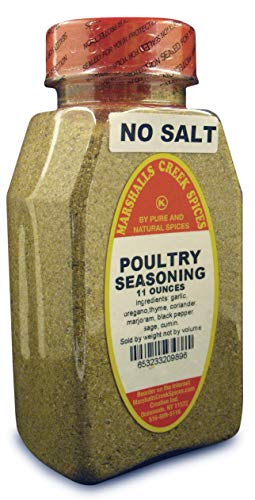 New Size Marshalls Creek Kosher Spices POULTRY SEASONING NO SALT, 11 ounces …