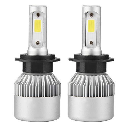 Faros delanteros para auto H7, par de bombillas LED para auto alta/baja, faros LED 6000K, 36W, 8000LM
