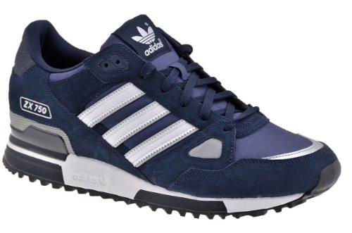Adidas Originals ZX 750 - Scarpe da ginnastica casual da uomo, Blu (Blu), 24 EU