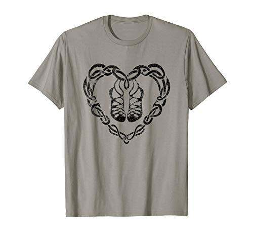 Irish Step Dancing Celtic Knot Heart T Shirt Gift