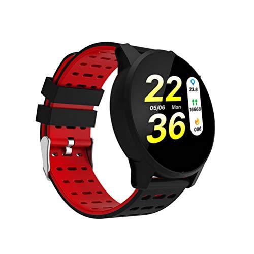 NICERIO Reloj Bluetooth Inteligente con recordatorio de Ejercicio para Android e iOS Monitorizador de Ejercicios Reloj Inteligente Monitor de Actividad Brazalete Bluetooth Resistente al Agua
