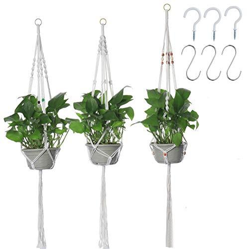 Kyrio 3 x Makramee-Pflanzenaufhänger...