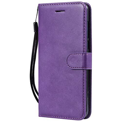 Hülle für Nokia 3.1Plus Hülle Handyhülle [Standfunktion] [Kartenfach] Tasche Flip Hülle Cover Etui Schutzhülle lederhülle flip case für Nokia 3.1 Plus - DEKT051452 Violett