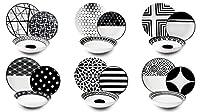 excelsa emily servizio piatti, porcellana, bianco/nero, 18 pezzi
