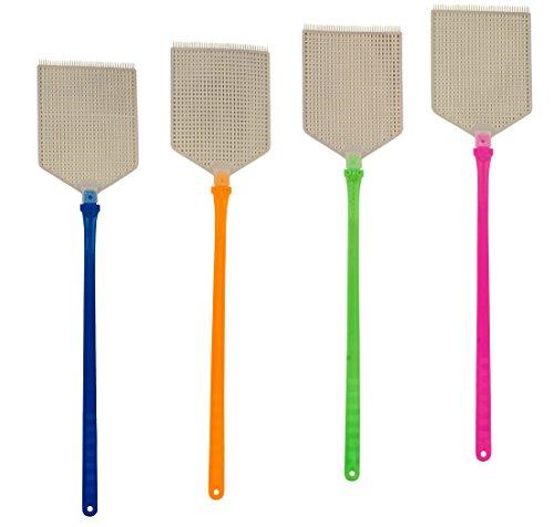 4Set Scacciamosche hochflexibel con protezione antizanzare Raschietti protezione insetti zanzare integrata per mosche, zanzare e insetti, colori assortiti