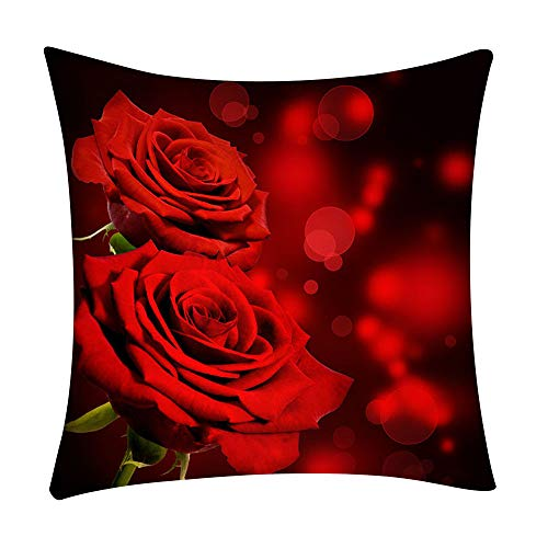 GDBEST Decorative Pillow Cover Multi-Pattern Flower Pillow Cases Creative Fashion Modern Square Throw Waist Polyester Pillowcase for Sofa Bedroom Chair Car Seat Home Decor Cushion Cover (18' x 18')