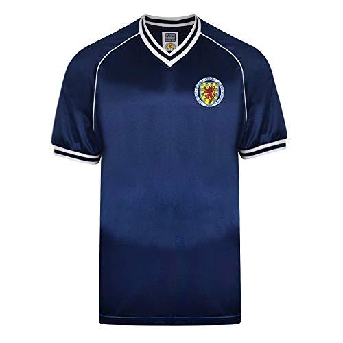 Score Draw Scotland 1982 Retro Football Soccer T-Shirt Trikot