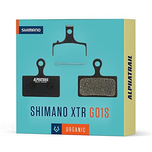 Alphatrail Pastiglie Freni - Shimano G01S I Organiche Pastiglie freno MTB con elevata potenza di frenata e chilometraggio I 100% Perfetto per Freno da Shimano G01S XT XTR SLX Deore Alfine