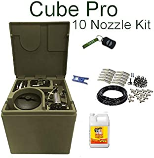 Cube PRO Pynamite Mosquito Misting System, Small 26 inch Cube Still 55 gallons with 10 Nozzle Kit and Free Misting Concentrate