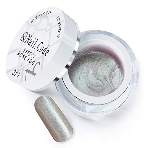 UV Farbgel für Nägel LED Farb gel Nail Polish Nagellack Nail Art nail code nailcode Nail:Code Colorgel 4,5ml Effect 18:1 (C371 - Rose Fog)