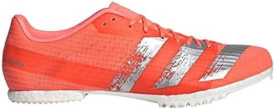 adidas Adizero MD Unisex Track & Field Shoe (Signal Coral/Silver Met./FTWR White, 11.5 M US)