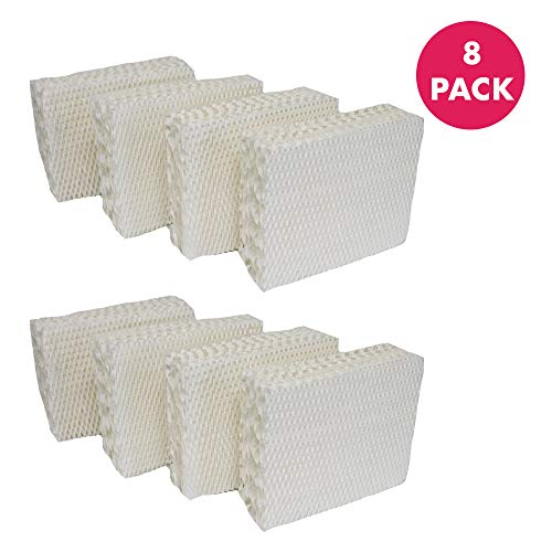 Think Crucial Replacement Humidifier Filters Compatible with Kenmore or Emerson 4PK Wick Filters Parts HDC 12, 14911 for Models 758.299751C, 758.299752C, 758.299870C - 10.2 x 9 x 7.8 - Bulk (8 Pack)