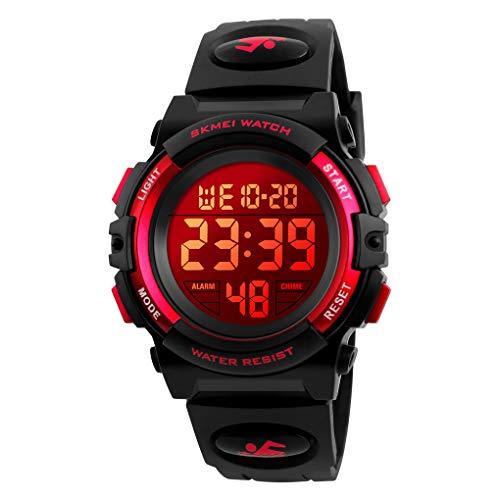 Reloj digital deportivo para niños, resistente al agua, electrónico, reloj despertador 12/24 h, cronómetro, calendario, reloj de...