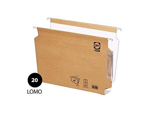 Elba 944032 - Pack de 25 carpetas colgantes, lomo 20 mm, visor lateral, A4