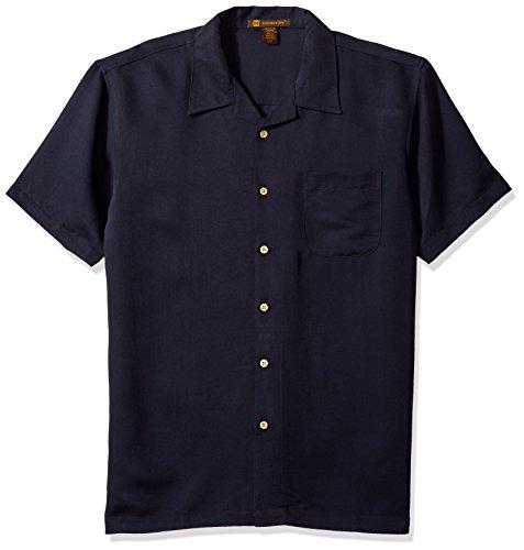 Harriton Men's Bahama Cord Camp Shirt, X-Large Navy