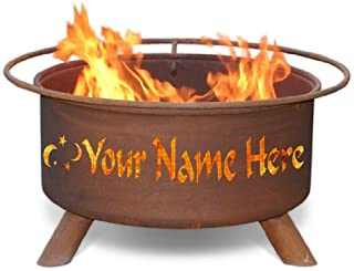 Personalized Fire Pit & Grill