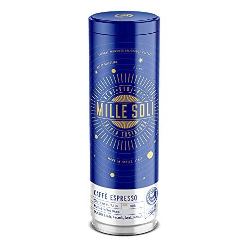 MilleSoli Caffè Espresso - Bohnen in 500g Dose Traditionelle Dreifachröstung In Handarbeit - Premium Kaffeebohnen mit perfekter Crema, besonders säurearm für Vollautomat und Siebträger