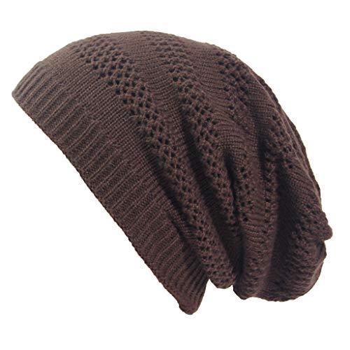 Lazzboy Wintermütze Frauen Mütze Damen Outdoor Solid Splice Hüte Hollow Crochet...