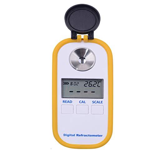 GUANGHEYUAN-J Portable Miele Rifrattometro Digitale Brix Indice di rifrazione rifrattometro 0-90% Brix palmare Versatile: Il Metro