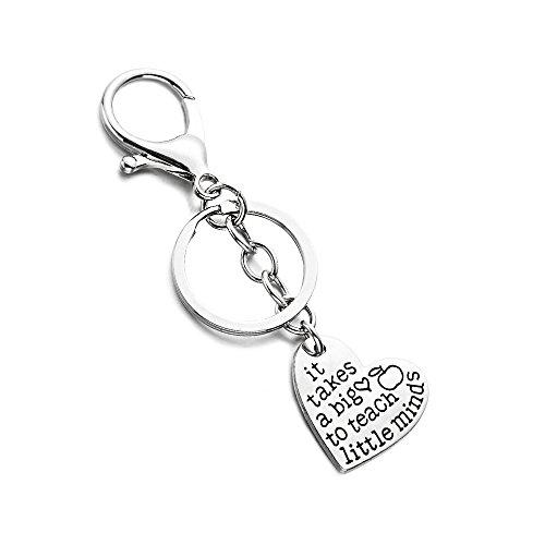 Het heeft een groot hart nodig om kleine geesten vorm te geven Hanger Sleutelhanger Ring Sleutelhaak Leraar Gift Graduation