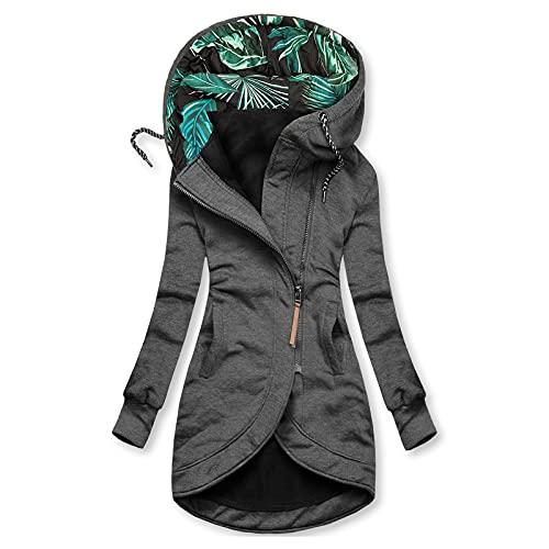Pianshanzi Veste de pluie pour femme - Imperméable et respirante - Avec capuche - Coupe-vent - Parka - Veste d'extérieur imperméable - Manteau de pluie - Veste de sport, B gris foncé., M