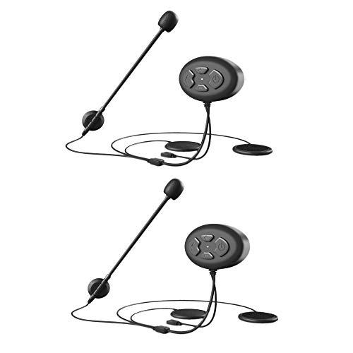 Exanko 2 Piezas Auriculares de Motocicleta Auriculares InaláMbricos Manos Libres Impermeable Radio FM Auriculares con Casco