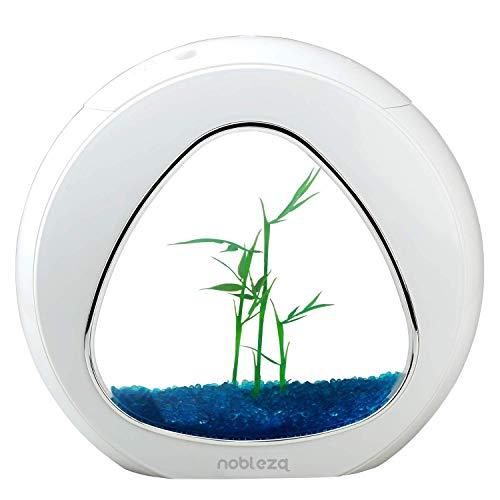 Nobleza - Acuario pecera de diseño Moderno con Ventana de Cristal y luz LED, Color Blanco....