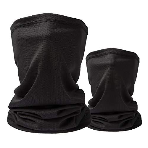 Sun UV Protection Neck Gaiter Washable Reusable Face Mask Cover Dust Wind Bandana Balaclava for Fishing Hiking Halloween