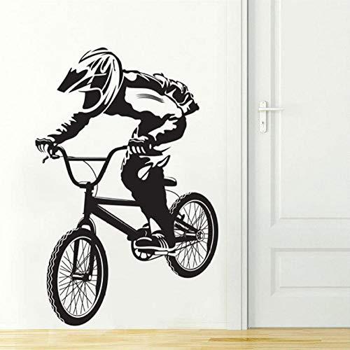 Bike Biker Jongens Extreme Sport Muursticker Vinyl Kinderkamer Decor Muurstickers voor Jongens Slaapkamer Veel Kleuren om te kiezen 40X70Cm