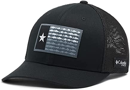 Columbia Unisex-Adult PFG Mesh Fish Flag Ball Cap