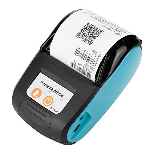 Impresora de recibos térmicos inalámbricos, 58 mm, mini impresora térmica portátil Bluetooth con impresión a alta velocidad, impresora POS Mobile para Android, iOS y Windows.(azul)