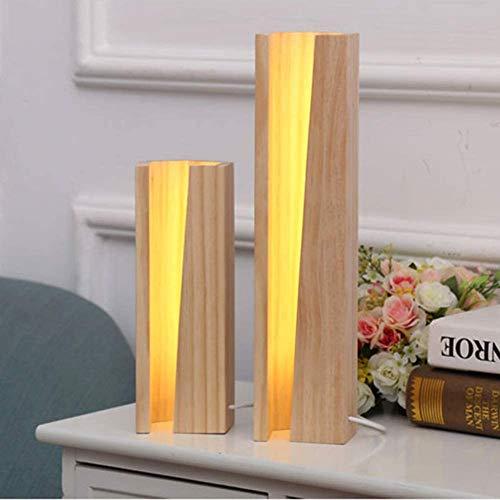 Modernes Design LED justierbare Tischlampe Dimmer Nachtnachtknopf Holz-Schreibtisch-Lampe Touch-Kind-Mädchen Wohnzimmer, stufenlose Dimmung,24+36CM