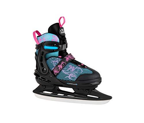 HUDORA Kinder & Jugendliche Allround Schlittschuh Comfort, Floral, Eislaufschuhe Ice Skates, Gr. 29-34-Eislaufschuhe, bunt, 29-34