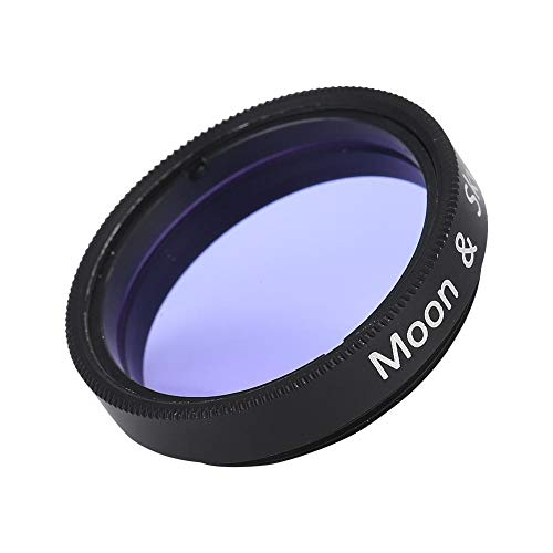1.25 inch Moon Filter,Aluminum Alloy Sky Glow & Moon Filter Optical Glass for Telescope Eyepiece Cuts Light Pollution