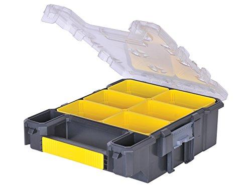 Stanley FatMax Werkzeug-Organizer / Aufbewahrungsbox (26x34x12cm, schmal, 6 herausnehmbare Boxen, Polycarbonat-Deckel, IP53 Abdichtung, Tragegriff) FMST1-72378