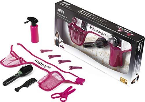 Theo Klein 5870 - Frisiergürtel mit Braun Satin Hair 7 Haarbürste, Spielzeug