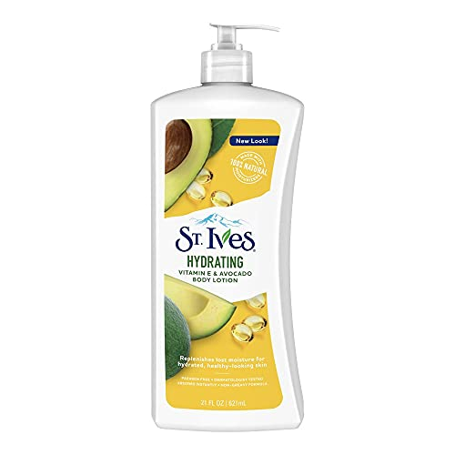 Daily Hydrating Vitamin E and Avocado Body Lotion by St. Ives for Unisex - 21 oz Body Lotion