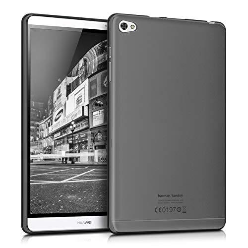 kwmobile Funda Compatible con Huawei MediaPad M2 8.0 - Carcasa para Tablet de Silicona TPU - Cover en Negro/Transparente
