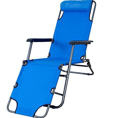 VERDELZ Sillones reclinables Plegables al Aire Libre Playa Patio Tela Oxford