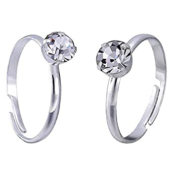 Topoox 60 Pack Silver Diamond Rings for Bridal Shower Games Engagement Party Favor Table Decorations