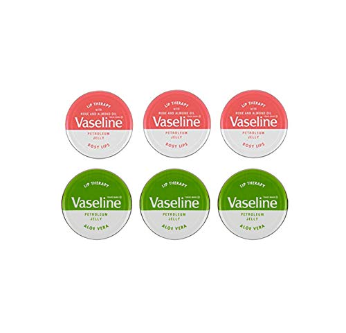 Vaseline Lip Balm Vaseline 20g, 3 Rosige Lippen & 3 Aloe Vera