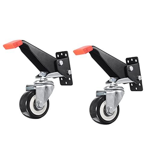 JJZXD 2 stücke Set Heavy Duty Workbench Casters Kit Retraktable Caster Räder für Workbenches Maschinen Tische
