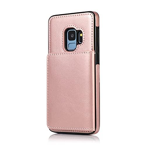 Teléfono Flip Funda Para Samsung Galaxy S9 Funda de teléfono móvil, funda de cartera de cuero de PU, caja de tragamonedas de tarjetas multitreen, para Samsung Galaxy S9 Tapa trasera del teléfono intel