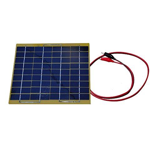 nuzamas poartable Cargador de panel solar 5W 18V batería de coche 12V Carga pinzas de cocodrilo al aire libre Camping senderismo pesca caza viajes