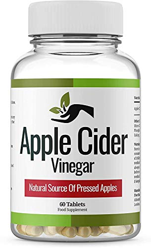 Apple Cider Vinegar - 1000 mg- Daily Dosage,Made in UK,Pure Vegan Supplement,Max Strength Tablets - Keto Diet Tablets for Women and Men.