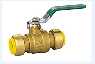 AB 3/4 inch Brass Push-to-Connect Ball Valve (25-Pack) for Plumbing Fitting, Push-Fit, Lead Free