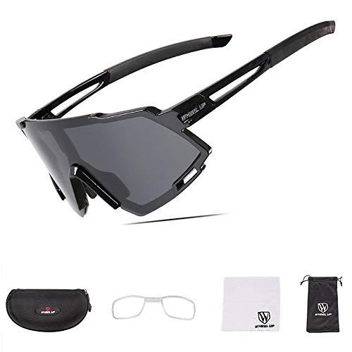 NACY Fahrradbrille mit polarisierter Vollbeschichtungslinse/photochrome UV400-Sonnenbrille für Rennradrennen,Rennen,Wandern,Sport,Sportbrillen