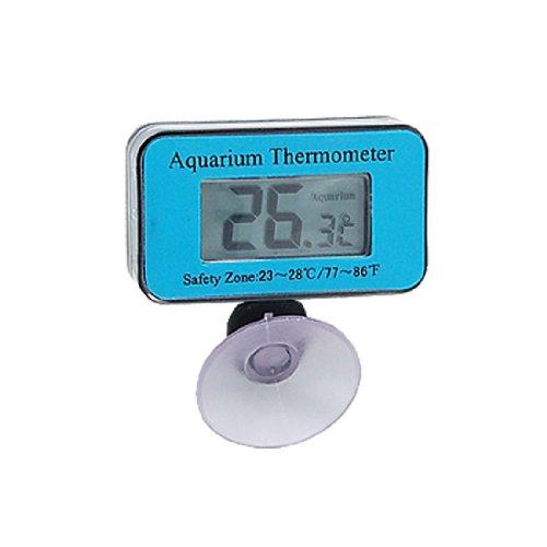 Jardin Thermomètre Digital étanche LCD Bleu pour Aquarium